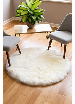 4' Round Australian Sheepskin Rug