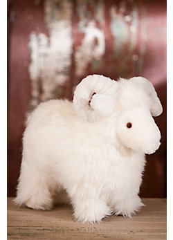 Lucky Sheepskin Stuffed Sheep