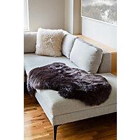 Single-Pelt Long Wool Australian Sheepskin Rug, Chocolate Western & Country