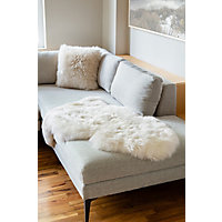 Single-Pelt Long Wool Australian Sheepskin Rug, Ivory Western & Country