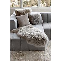 Single-Pelt Long Wool Australian Sheepskin Rug, Taupe Western & Country
