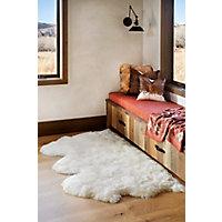 3-Pelt Australian Sheepskin Rug, Ivory Western & Country