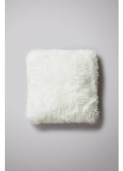"Single-Sided 18"" x 18"" Australian Long Wool Sheepskin Pillow"