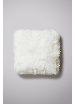 "Double-Sided 18 x 18"" Australian Long Wool Sheepskin Pillow"