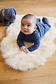 Sheepskin Baby Rug with Long Wool