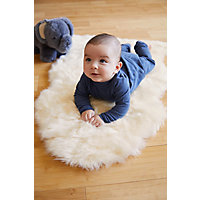 Sheepskin Baby Rug With Long Wool Western & Country