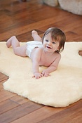 Sheepskin Baby Rug with Short Wool