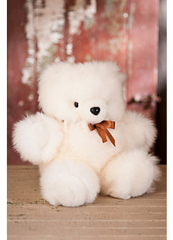 Stuffed Sheepskin Teddy Bear