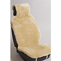 Universal Sheepskin Car Seat Cover, Light Tan Western & Country
