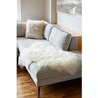 Single-Pelt Icelandic Sheepskin Rug, White Western & Country