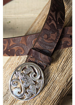 Women's Love Carnival Leather Belt