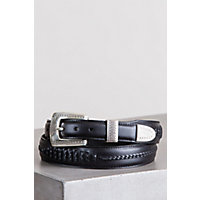 Salina Taper Leather Belt, Black, Size 42 Western & Country