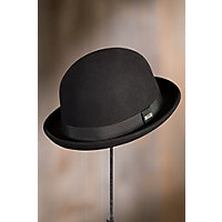 New Edwardian Style Men's Hats 1900-1920 Crushable Wool Derby Bowler Hat BLACK Size XXLARGE  7 34 - 7 78 $39.00 AT vintagedancer.com