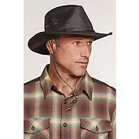 "Shapeable Weathered Cotton Outback Hat, Brown, Size Medium (22""-22.5"" Circumference) Western & Country"
