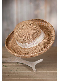 Women's Hand-Crocheted Organic Raffia Hat
