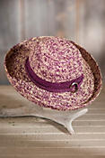 Women's Clarissa Crocheted Organic Raffia Hat