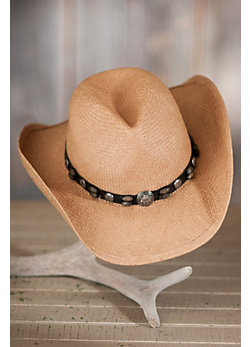Western Toyo Straw Hat with Concho