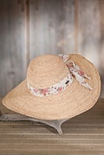 Women's Wide Brim Crocheted Raffia Hat
