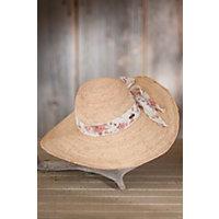 Women's Wide Brim Crocheted Raffia Hat Western & Country