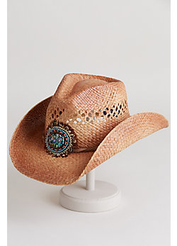 Women's Shapeable Western Raffia Hat