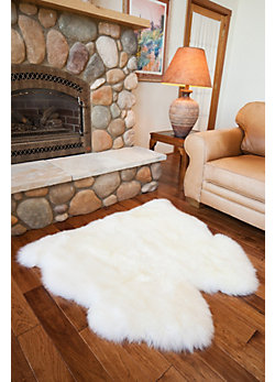 2-Pelt Side-By-Side Australian Sheepskin Rug