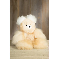 Large Alpaca Wool Teddy Bear Western & Country