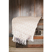 Fringed Peruvian Alpaca Throw Western & Country
