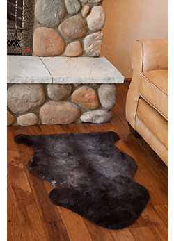 Single-Pelt Short Wool Australian Sheepskin Rug with Natural Markings