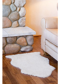 Overland Single-Pelt Curly Wool Australian Sheepskin Rug