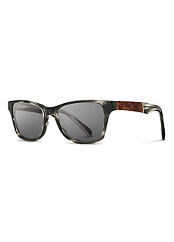 Shwood Fifty-Fifty Canby Gray Polarized Sunglasses with Elm