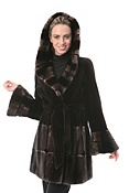 Women's Brianna Sheared Mink Fur Jacket with Hood
