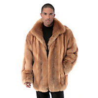 Men's Christophe Cherry Red Fox Fur Coat, Natural, Size 44 Western & Country