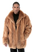 Men's Christophe Cherry Red Fox Fur Coat