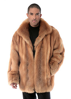 Men's Christophe Cherry Red Fox Fur Jacket