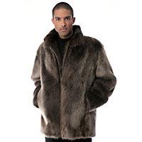 Men's Bradford Longhaired Beaver Fur Coat, Blonde, Size 40 Western & Country