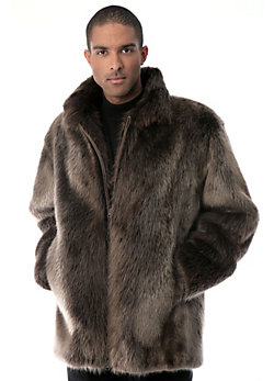Men's Bradford Longhaired Beaver Fur Coat
