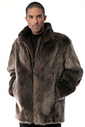Men's Bradford Long-Haired Beaver Fur Coat