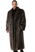 Men's Montague Full-Length Longhaired Beaver Fur Coat