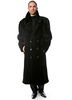 Men's Francisco Full-Length Sheared Beaver Fur Coat