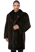 Men's Roscoe Longhaired Danish Mink Fur Car Coat