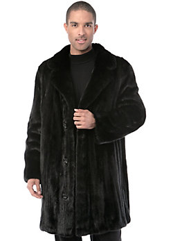 Men's Winston Longhaired Danish Mink Fur Car Coat