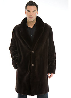 Men's Gregory Sheared Danish Mink Fur Coat