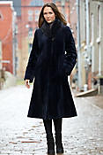 Women's Louisa Sheared Mink Fur Coat