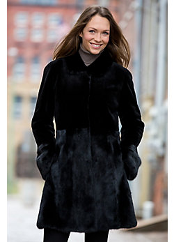 Women's Nell Danish Mink Fur Coat