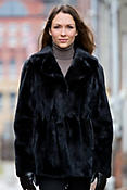 Francine Long-Haired Danish Mink Fur Coat