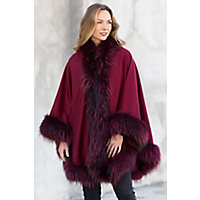History of 1920s Coats, Furs and Capes Keira Cashmere Cape with Raccoon Fur Trim $1,675.00 AT vintagedancer.com