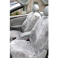 Custom-Fit Sheepskin Car Seat Cover, Light Silver Western & Country