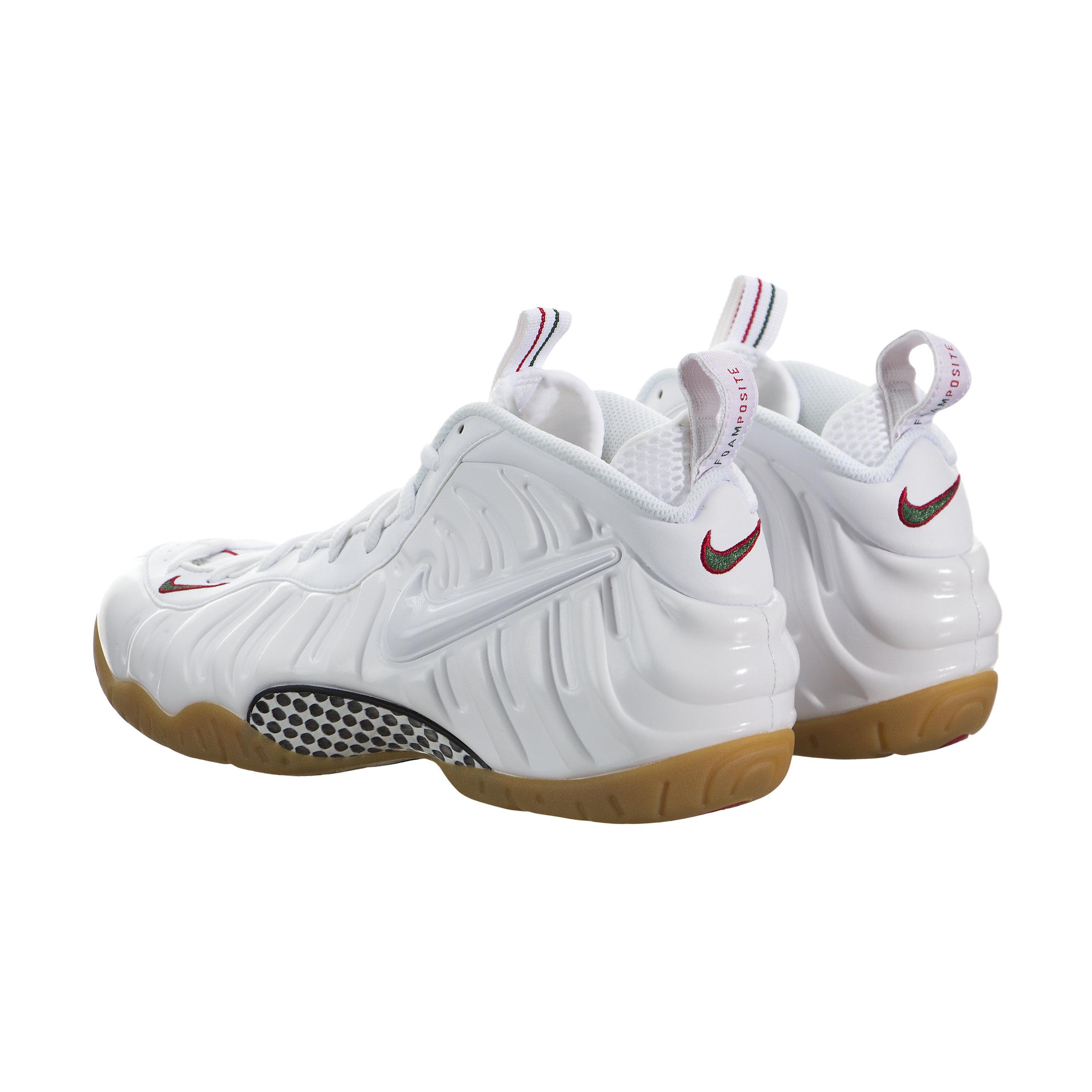 Nike foamposite white gym red gorge greeN