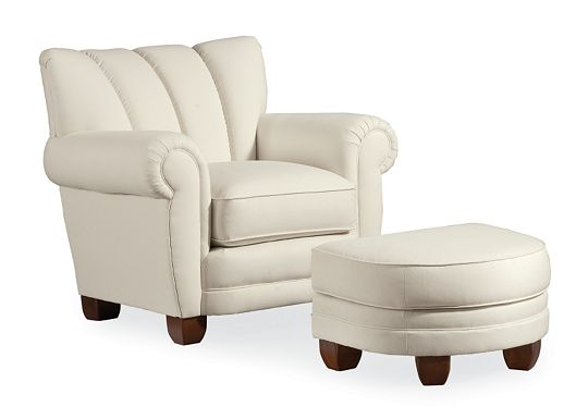 Martini Cigar Chair and Ottoman (1010-02)