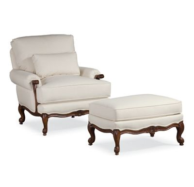Margeaux Chair and Ottoman (1010-02)